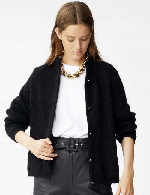Gestuz debbie short cardigan - black