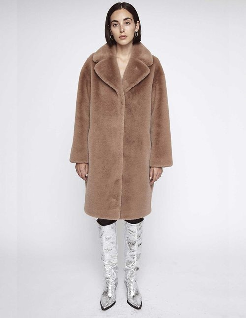 Stand Studio camille cocoon coat - taupe