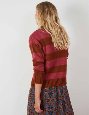 Leon & Harper miaki jumper - magenta stripes model