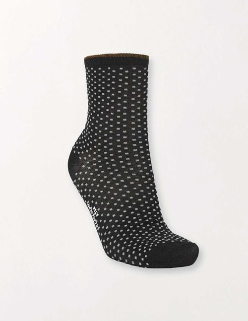 Becksondergaard dina small dots socks - black