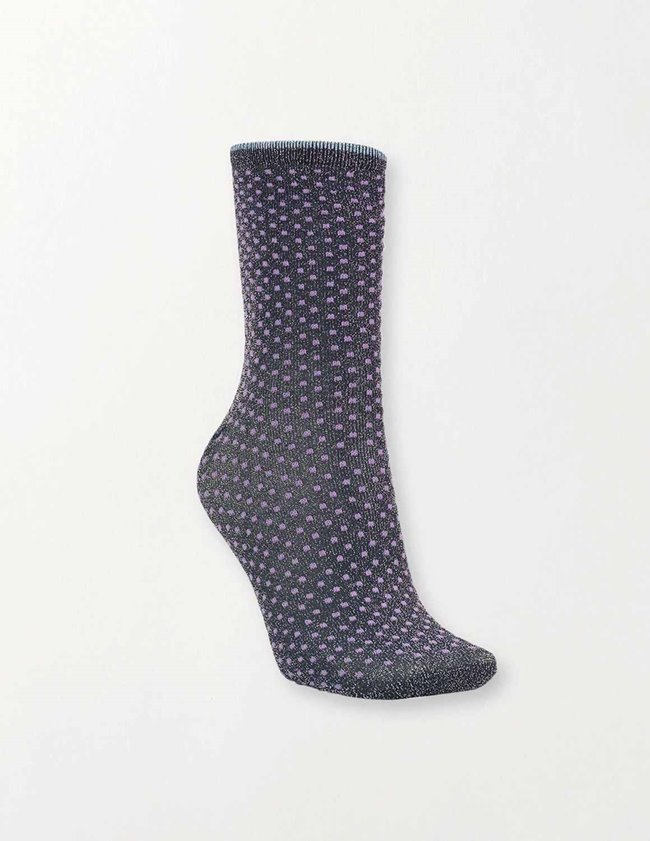 Becksondergaard dina small dots coll. socks - purple