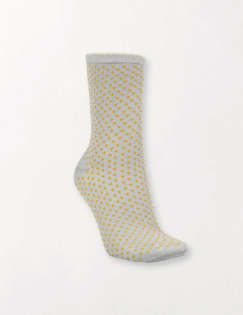 Becksondergaard dina small dots coll. socks - yellow
