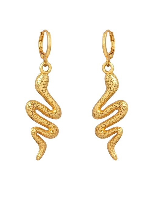 I am Jai e1605 snake earrings - gold