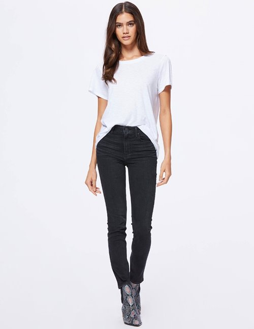 Paige sarah slim jeans - black willow
