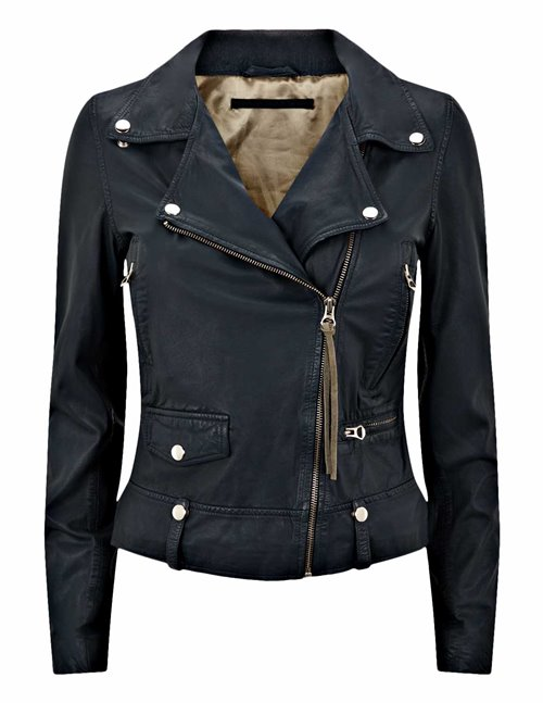 MDK seattle new thin leather jacket - blue night