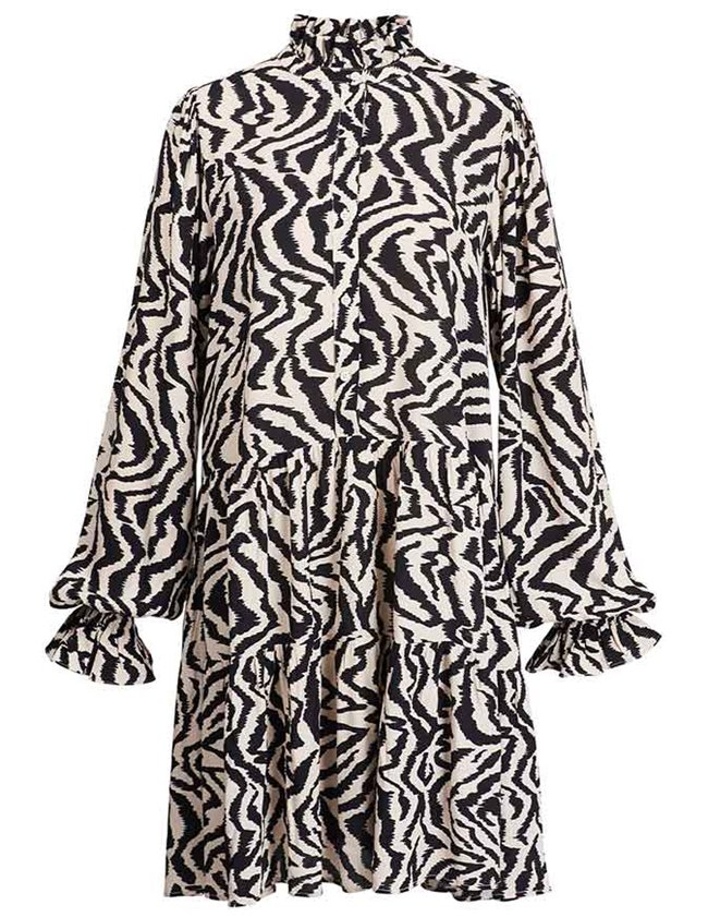 Essentiel Antwerp zoku dress - black & white