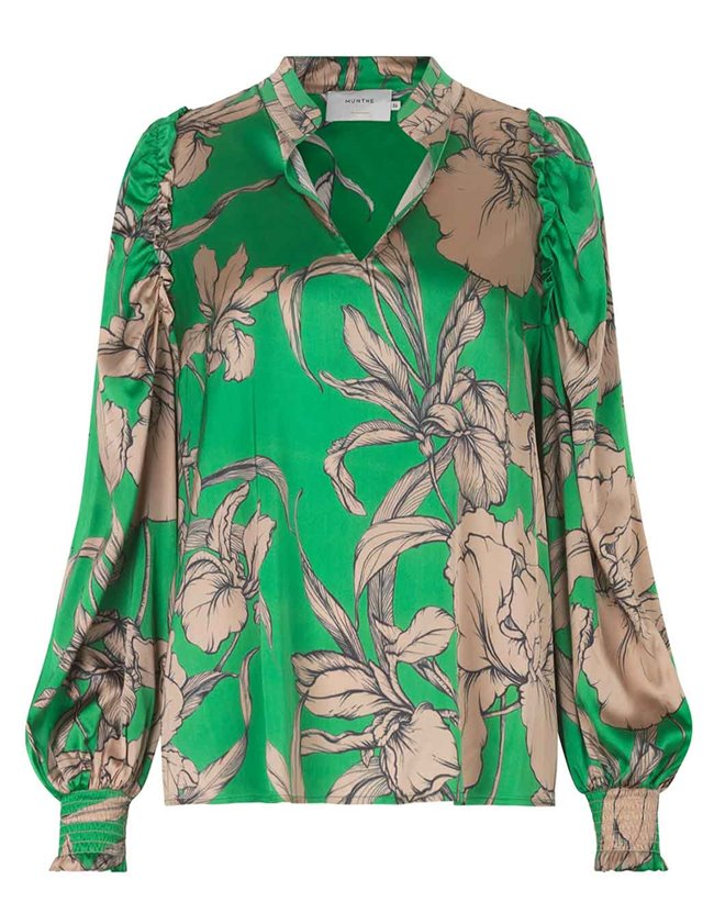Munthe tabuc blouse - green