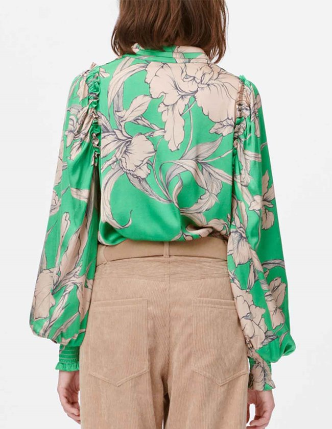 Munthe tabuc blouse - green detail