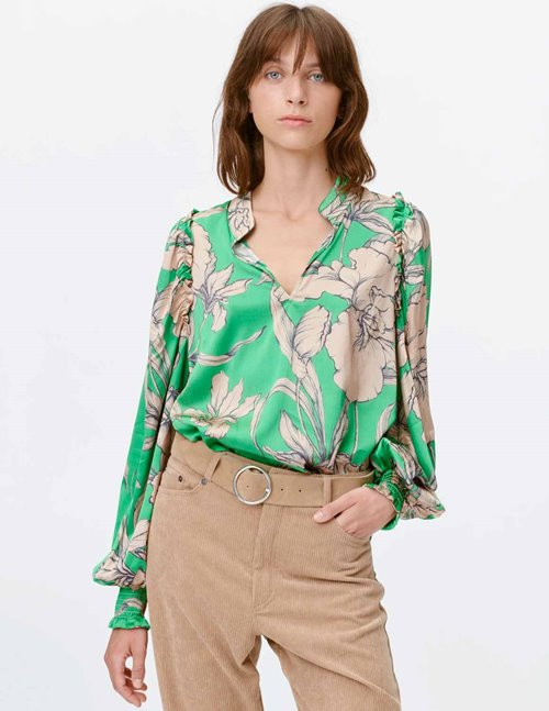 Munthe tabuc sustainable blouse - green