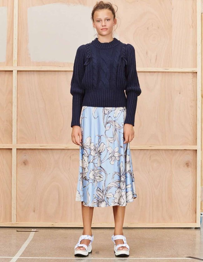 Munthe tacuba skirt - ice blue