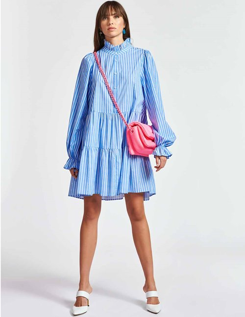 Essentiel Antwerp zinga dress - blue