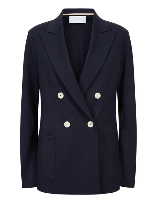 Harris Wharf London d.b. peak lapel blazer - navy