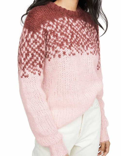Custommade magie jumper - burgundy / pink