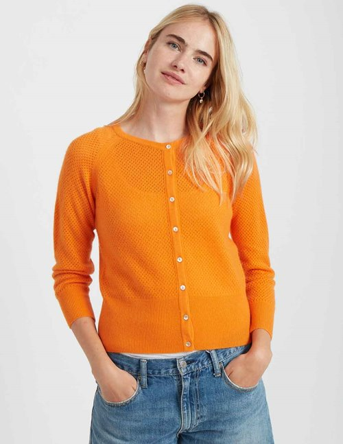 Jumper 1234 string crew cardi - orange
