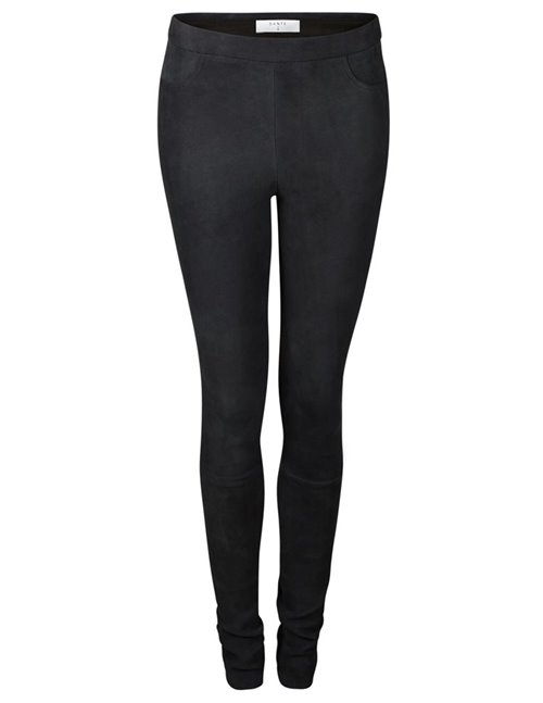 dolmann crackle suede leggings - black