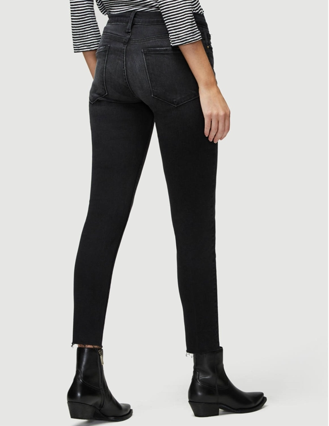 Frame le garcon crop raw edge jeans - jacqueline grey side