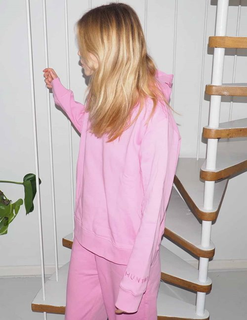 Munthe tandy sustainable hoodie - pink