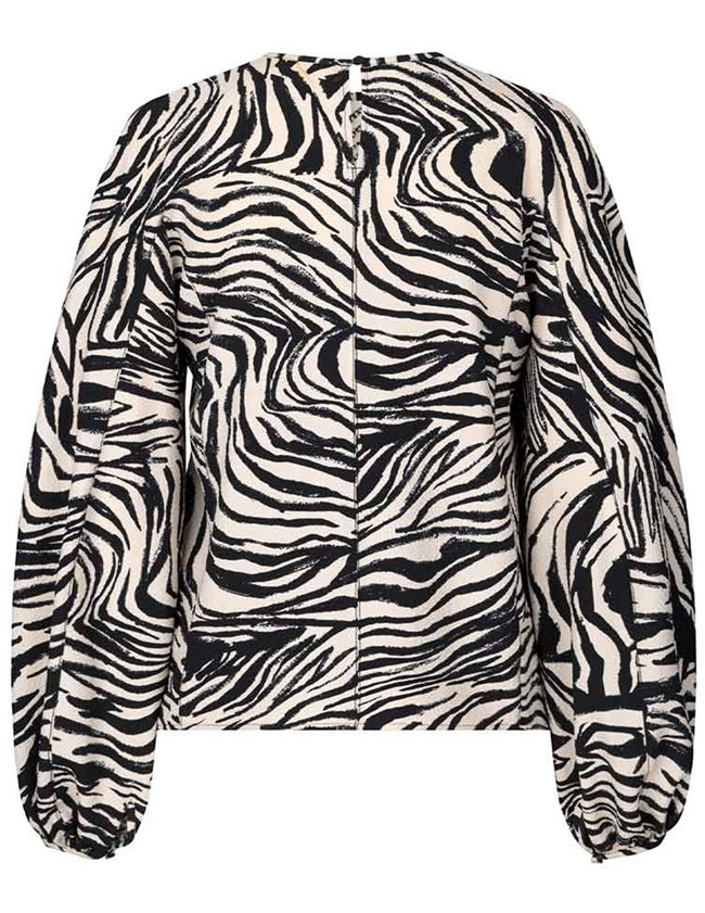 Stine Goya dianne top - zebra detail