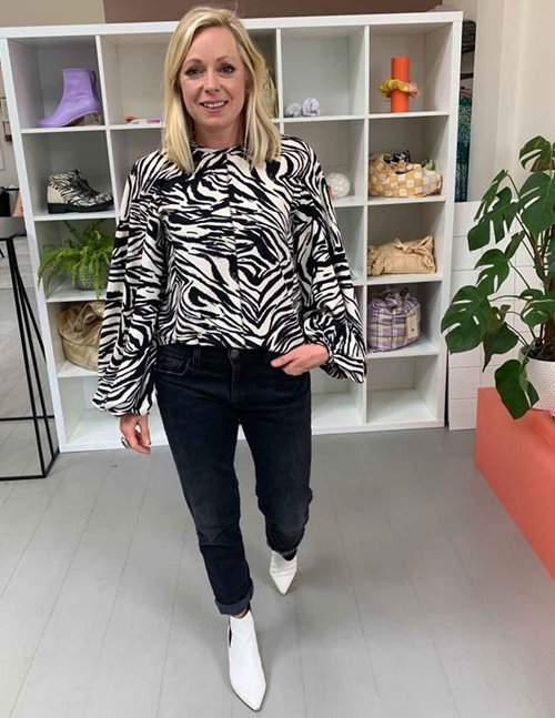 Stine Goya dianne sustainable top - zebra