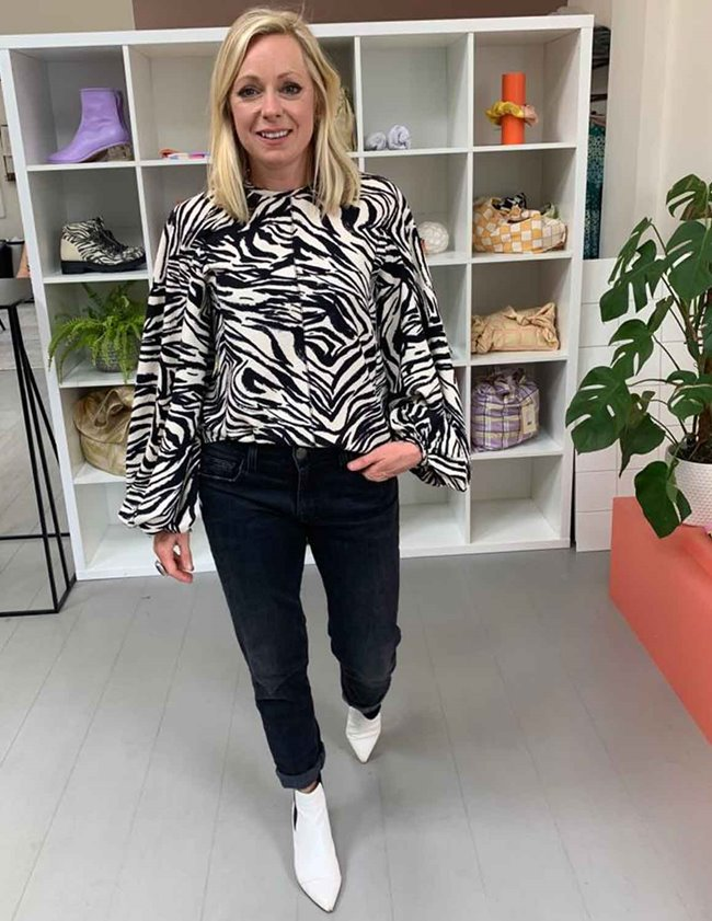 Stine Goya dianne top - zebra back