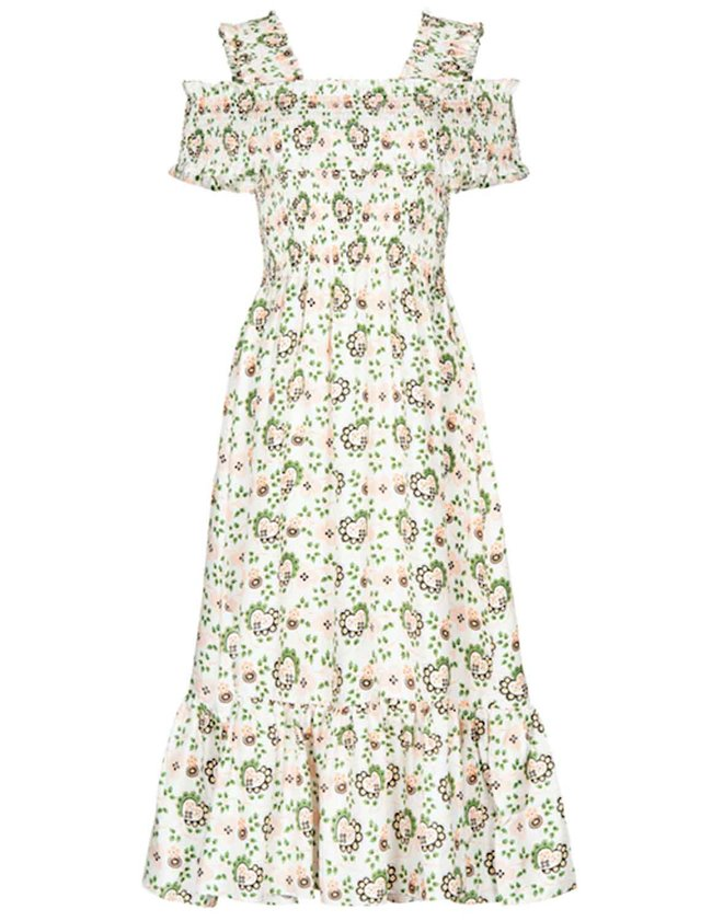 Shrimps rafferty dress - off-white/hearts