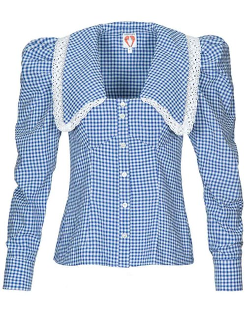 Shrimps elliot blouse - blue & cream