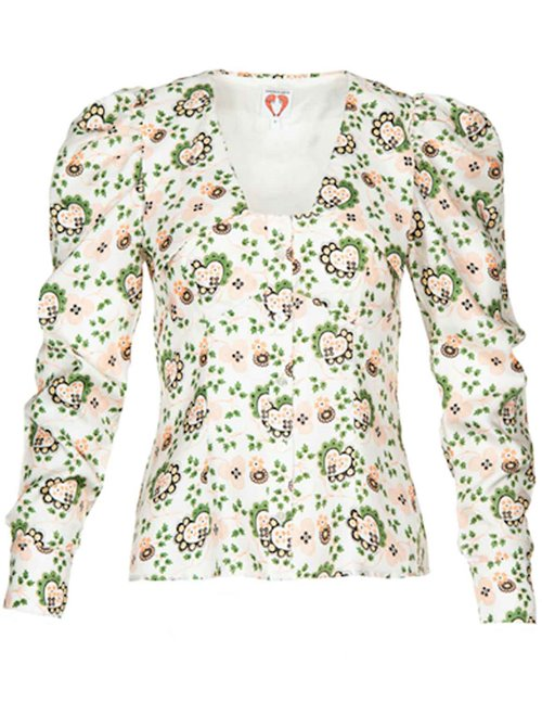 Shrimps elliot blouse - off-white/hearts