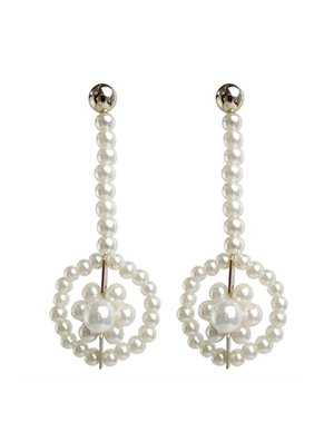 Shrimps viola earrings - pearl