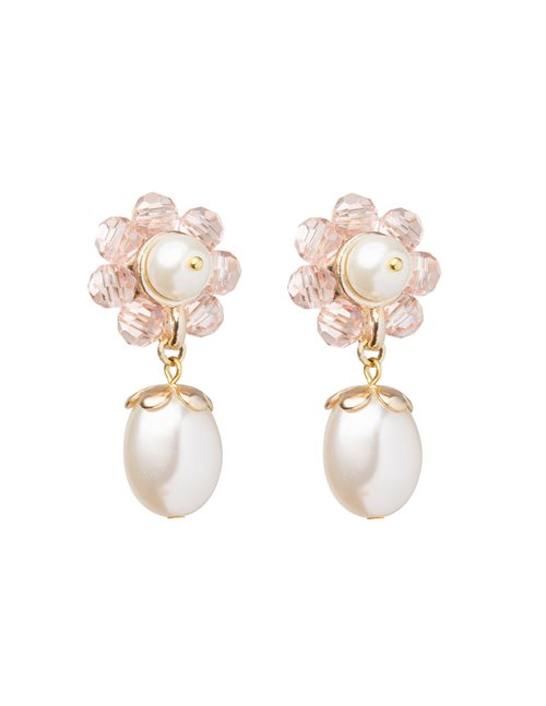 Shrimps marti earrings - pearl/flower