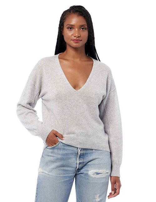 360 Cashmere nyla jumper - light grey