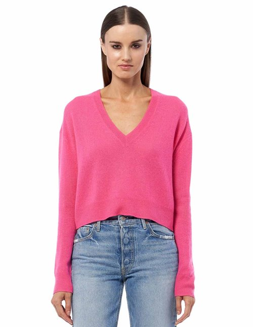 360 Cashmere marcy jumper - hibiscus pink