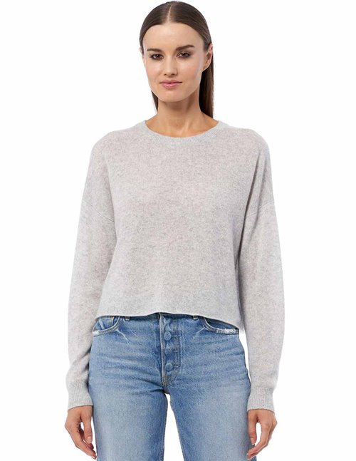 360 Cashmere lynne jumper - light grey