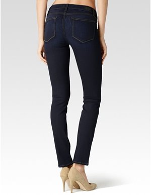 Paige hoxton ultra skinny jeans - mona dark blue back