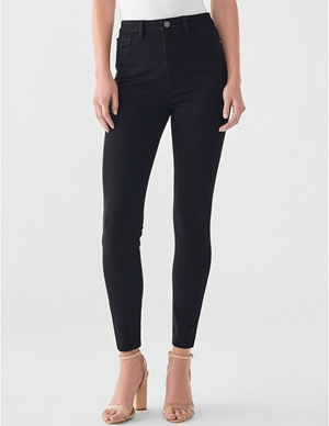DL1961 chrissy ankle skinny jeans - hopper black