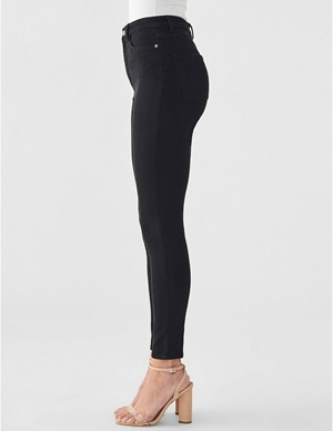 DL1961 chrissy ankle skinny jeans - hopper black side