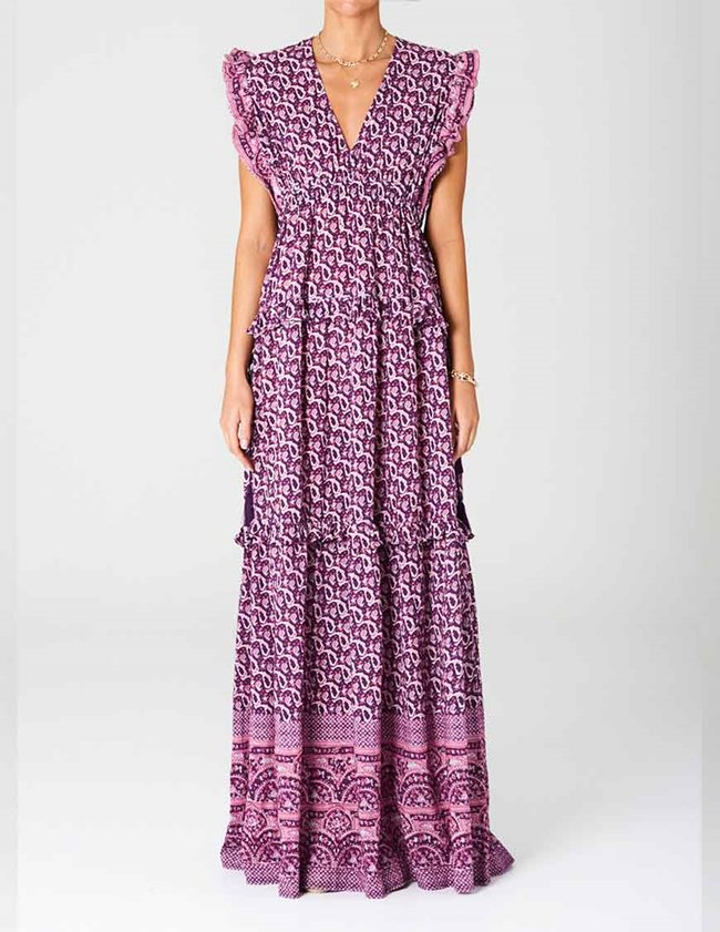 M.A.B.E jani print maxi dress - multi