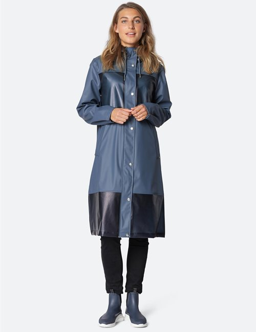 Ilse Jacobsen raincoat - dark blue