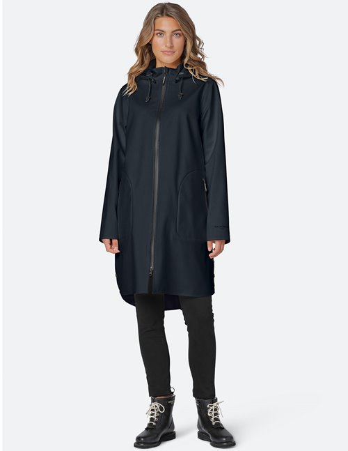 Ilse Jacobsen raincoat - black