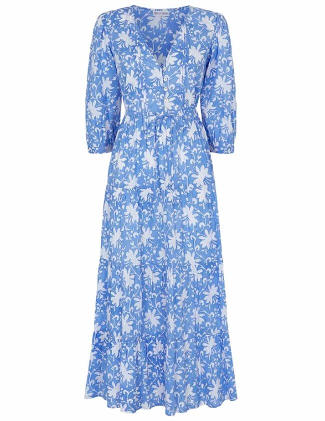 Pink City Prints maria dress - cornflower iris