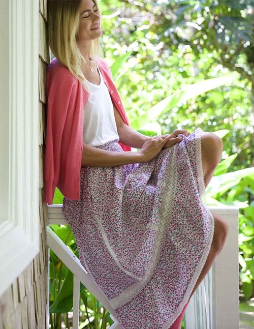 Pink City Prints cienna skirt - ditzy glade