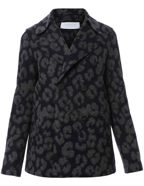 Harris Wharf London peacoat - leopard navy