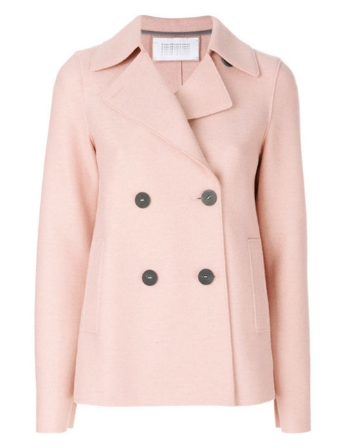 peacoat pressed wool - blush pink