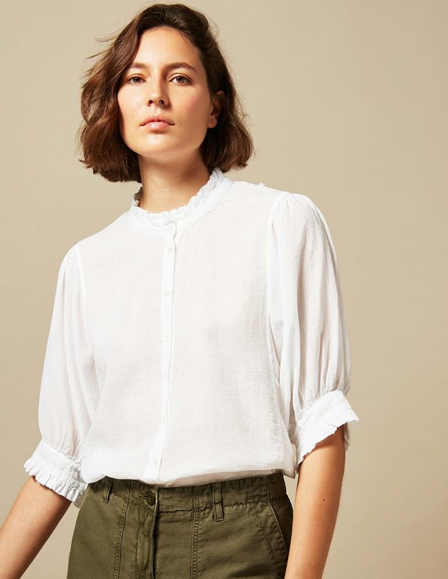 Hartford tanju shirt - white