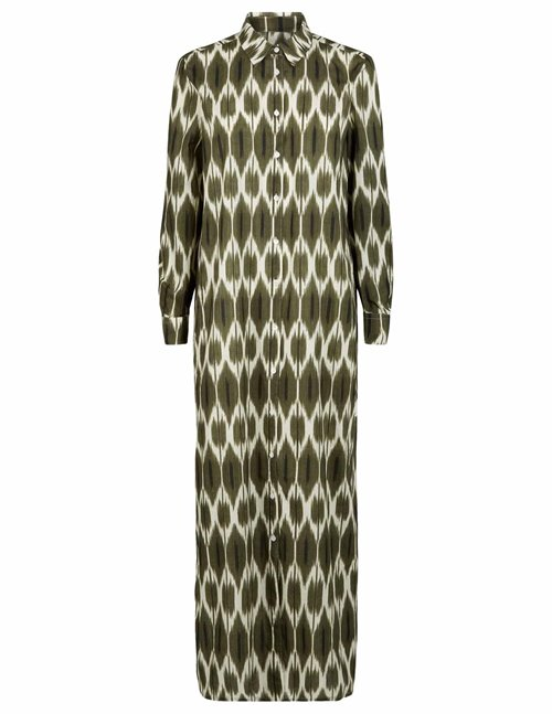 Hartford ikat reaction dress - army