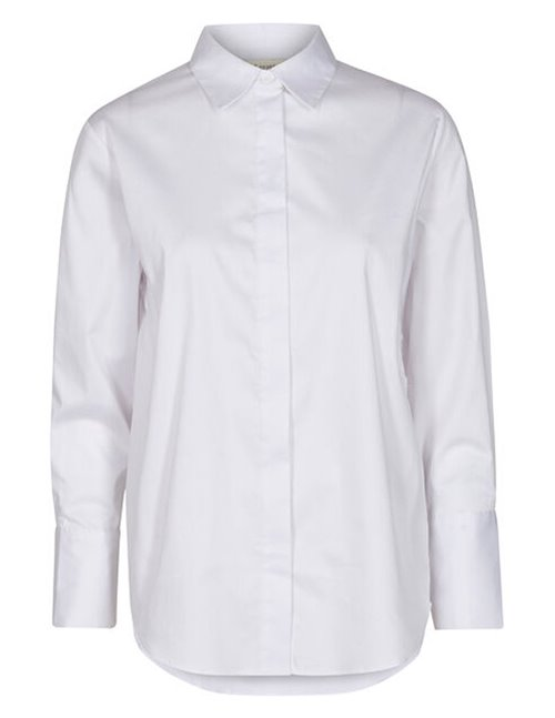 Levete Room isla solid 7 long sleeve shirt - white