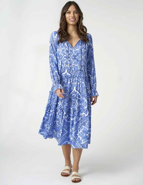 Dea Kudibal viola dress - blue paisley