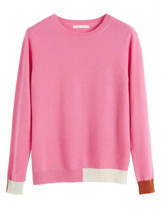 cambridge cashmere sweater - pink
