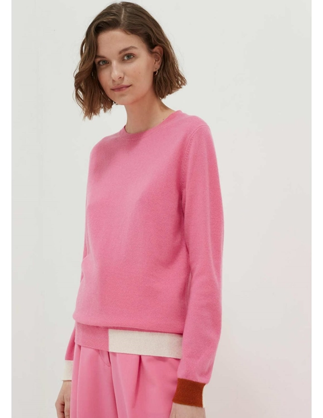 cambridge cashmere sweater - pink back