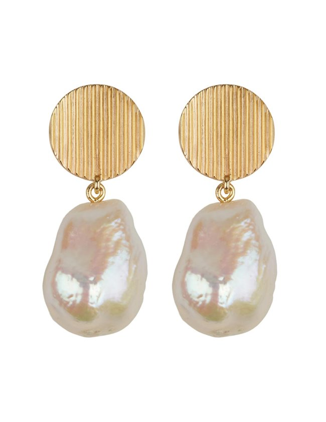 Feeka atea earrings - pearl