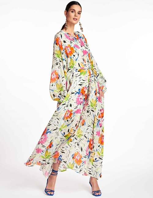 Essentiel Antwerp zabbage maxi dress - off white / floral